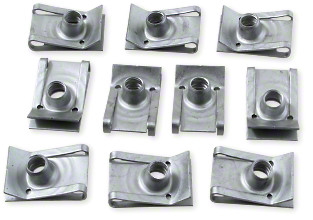 Clips til skruer v/plastik 6mm